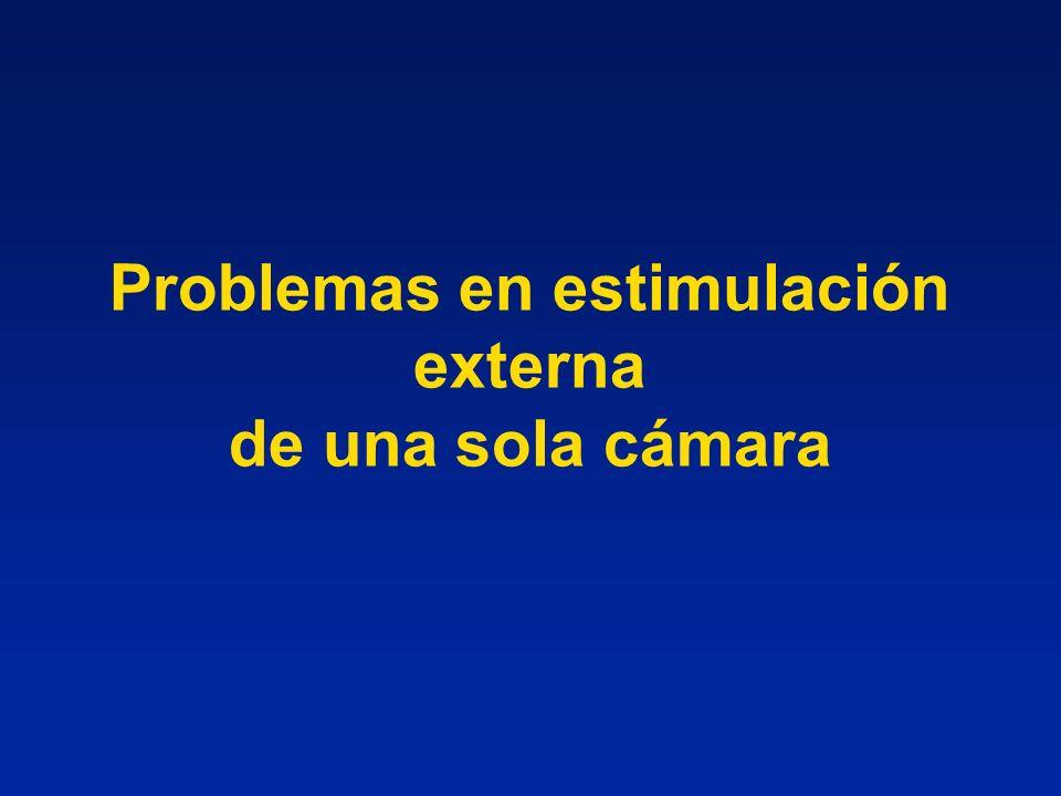 Problemas en estimulación externa de una sola cámara