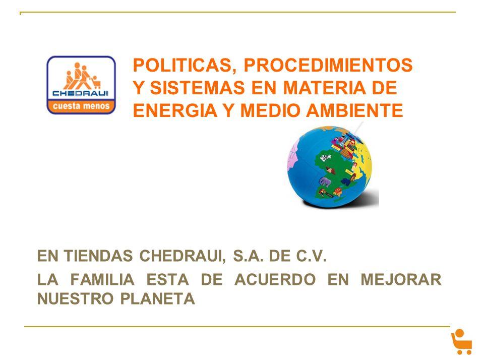 POLITICAS, PROCEDIMIENTOS Y SISTEMAS EN MATERIA DE ENERGIA Y MEDIO AMBIENTE