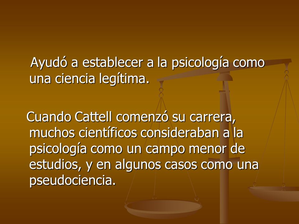 James mckeen cattell ppt descargar - Estudio de caso psicologia ...