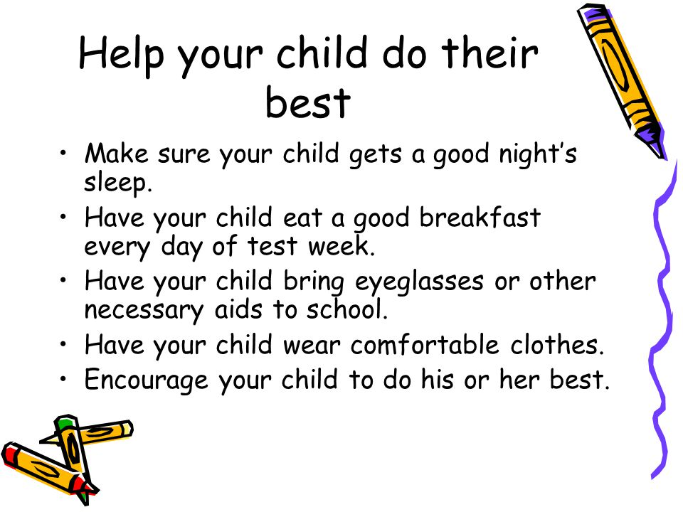 Help your child do their best