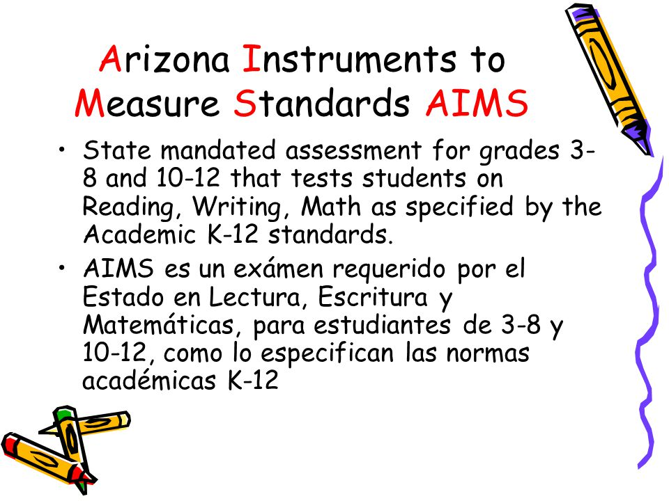 Arizona Instruments to Measure Standards AIMS