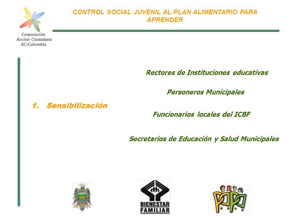 Sensibilización Rectores de Instituciones educativas