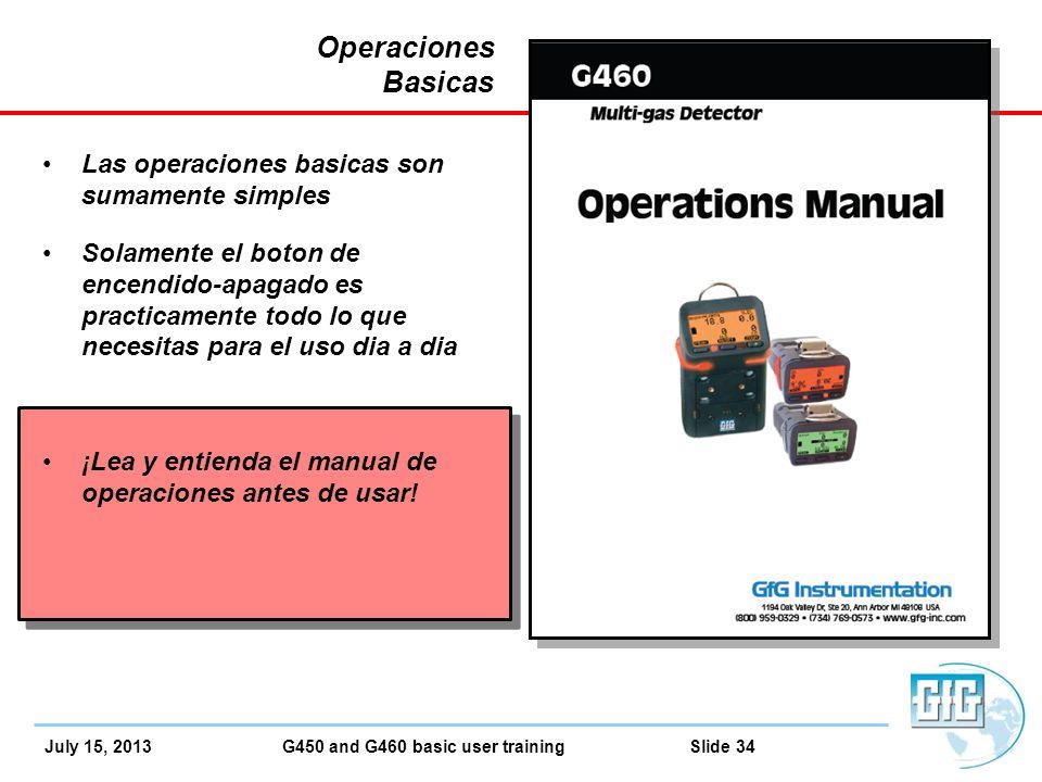 February 27 2013 g450 g460 basic operation gfg for Manual operaciones basicas de cocina
