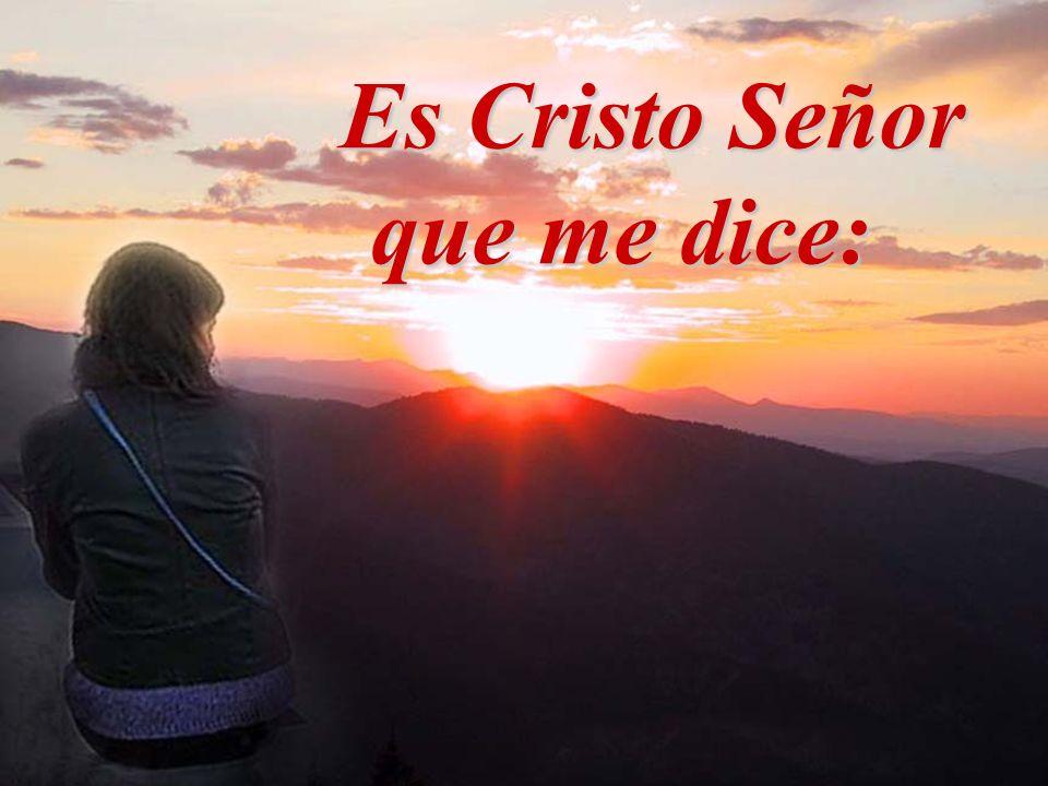 que me dice: Por mérito de Cristo, el futuro está lleno de luz.