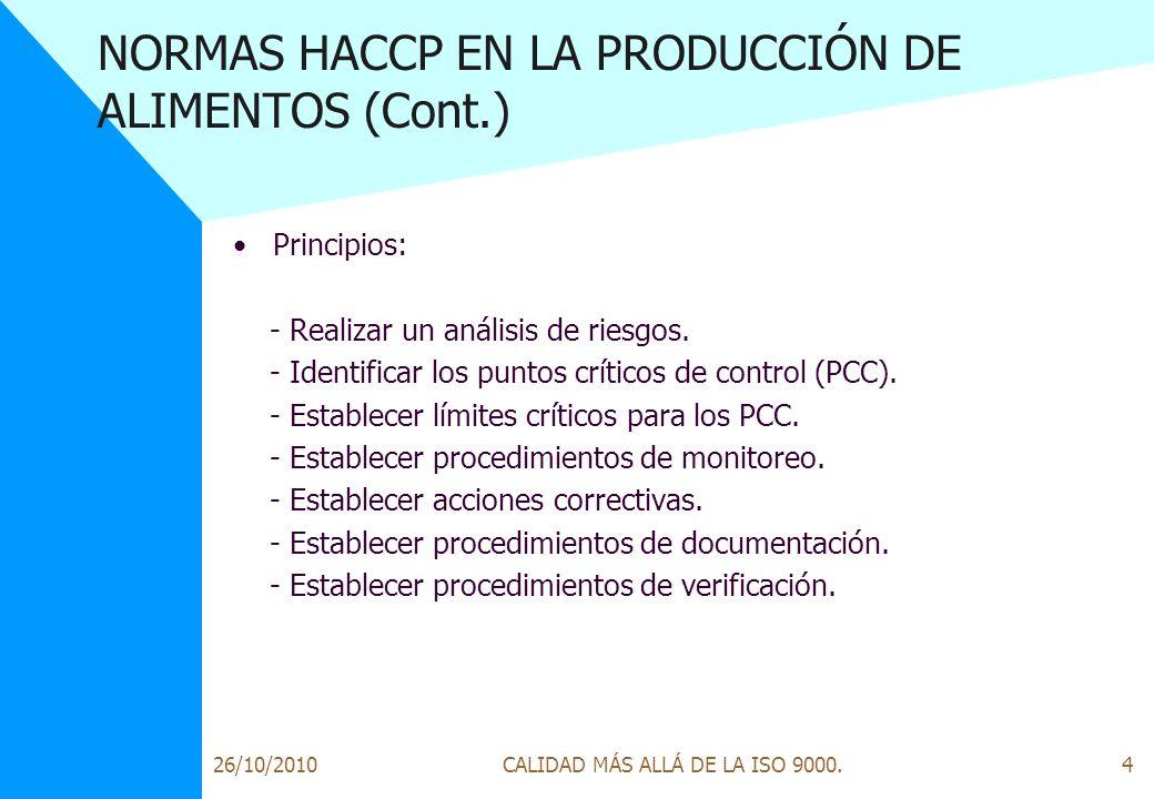 Normas Iso Para La Produccion De Alimentos - UKIndex