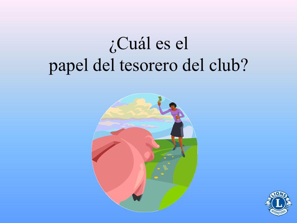 ¿Cuál es el papel del tesorero del club