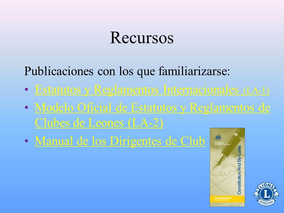 Recursos Publicaciones con los que familiarizarse: