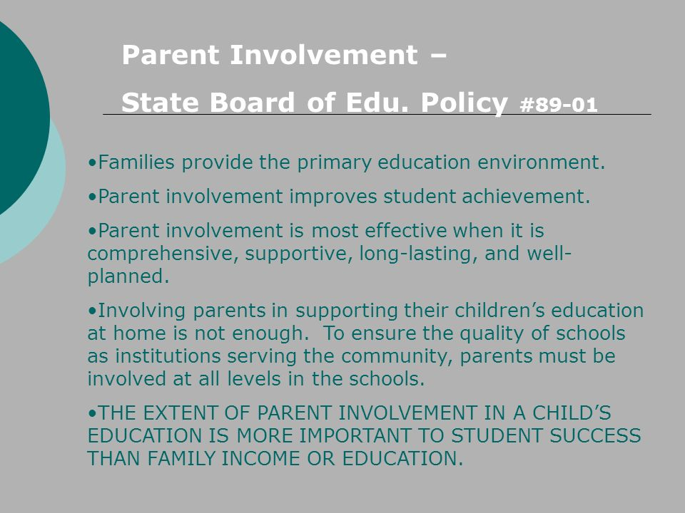 State Board of Edu. Policy #89-01