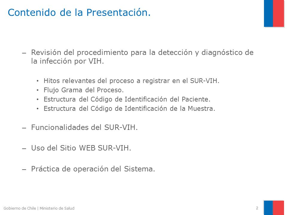 Sistema nico de registro sur vih ppt video online for Pagina web del ministerio del interior