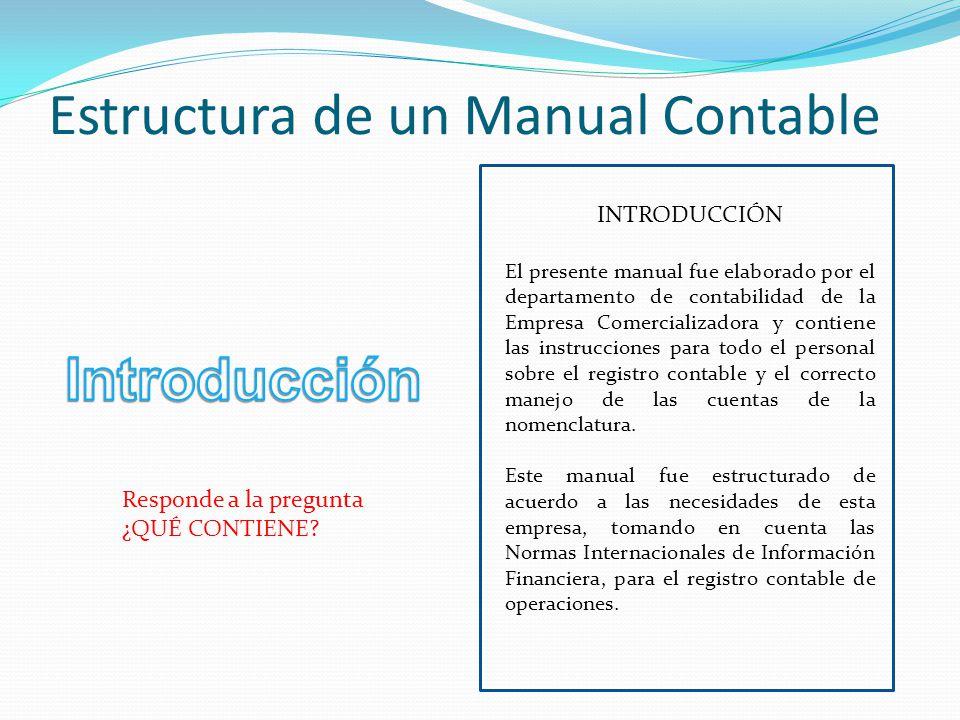 Estructura de un Manual Contable
