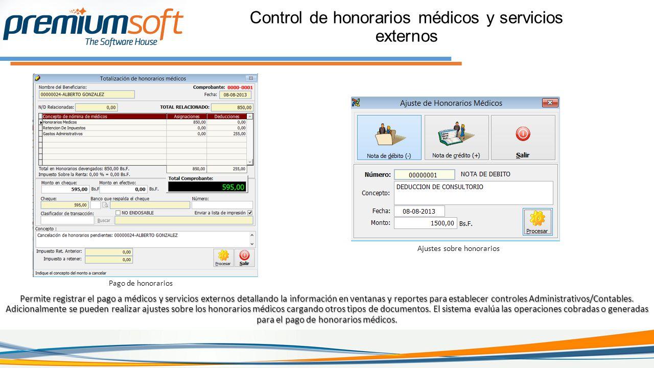 Control de honorarios médicos y servicios externos
