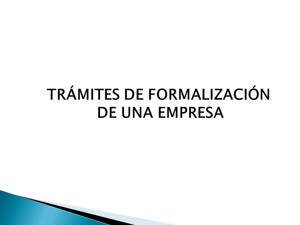 TRÁMITES DE FORMALIZACIÓN
