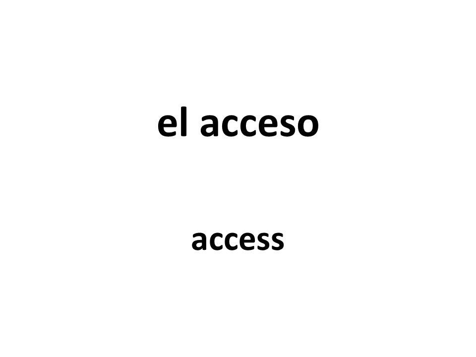 el acceso access