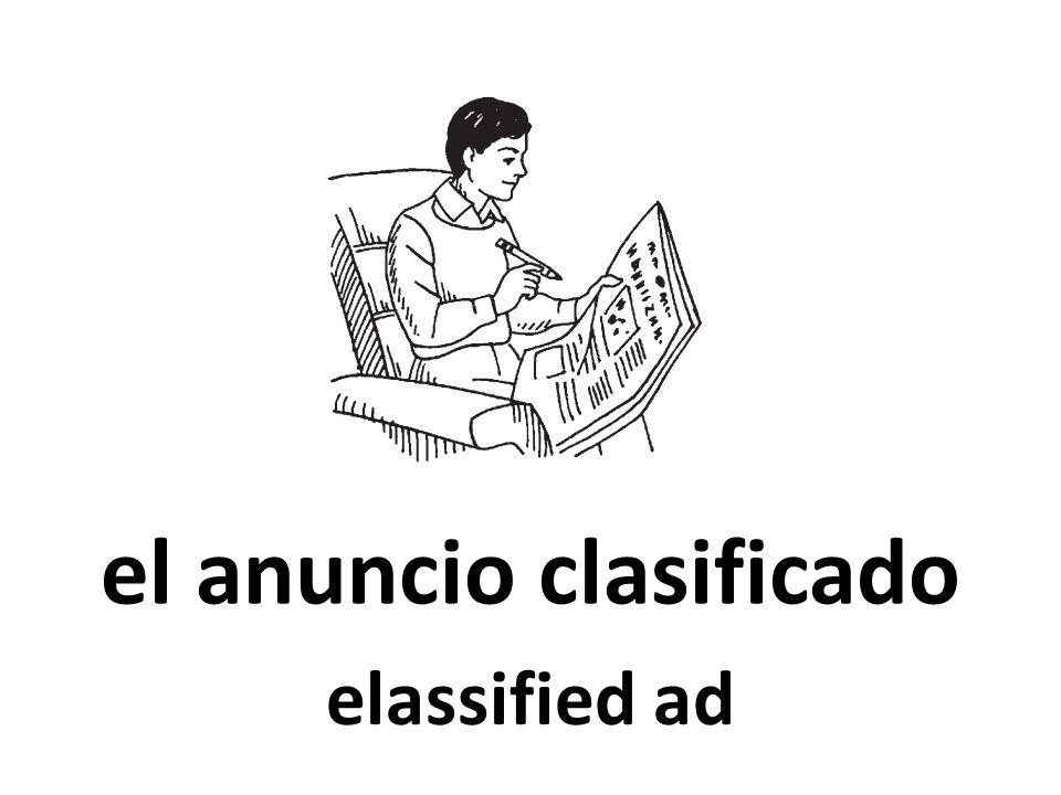 el anuncio clasificado