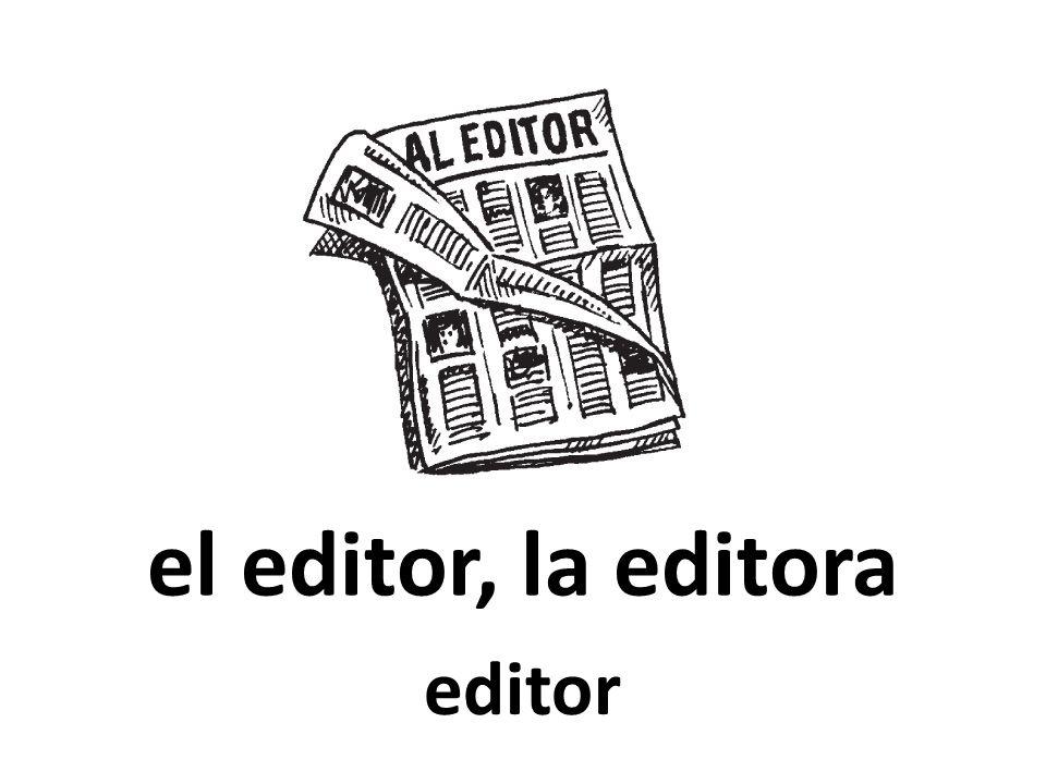 el editor, la editora editor
