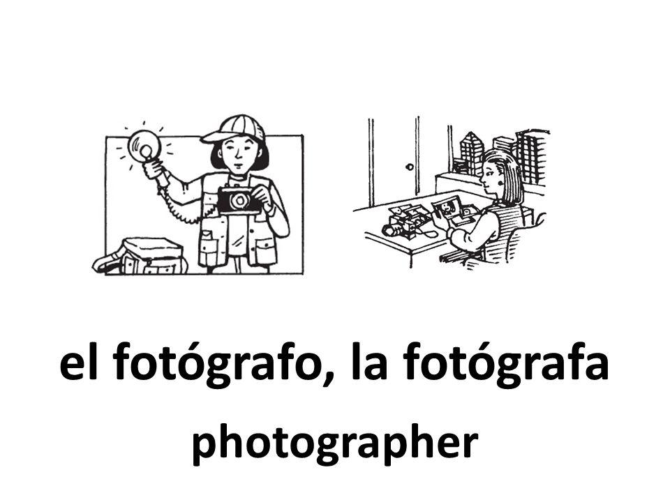 el fotógrafo, la fotógrafa