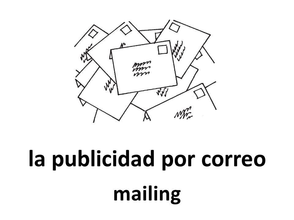 la publicidad por correo