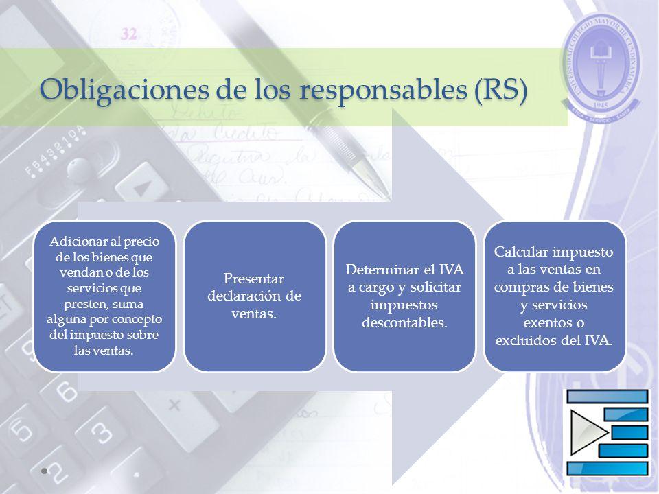Obligaciones de los responsables (RS)
