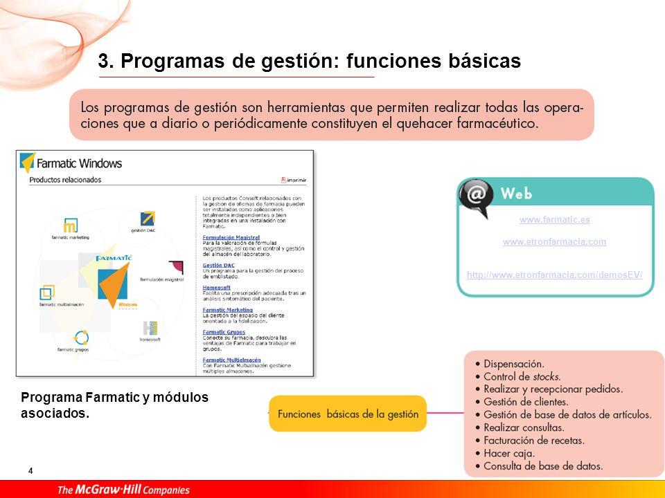 3. Programas de gestión: funciones básicas
