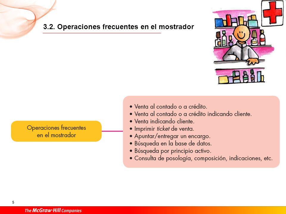 3.2. Operaciones frecuentes en el mostrador