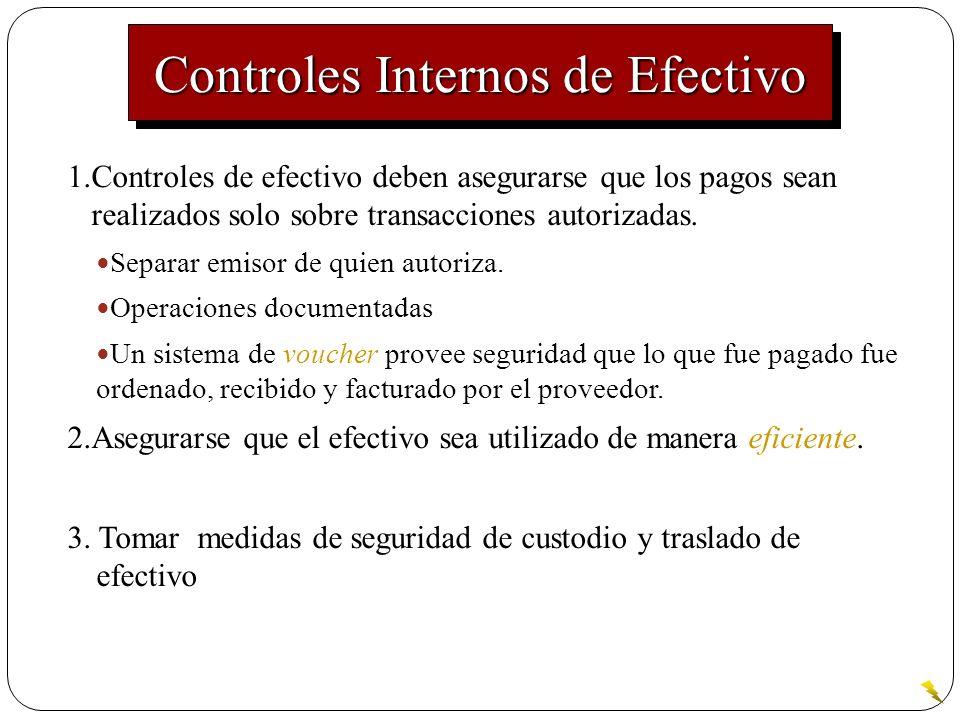 Controles Internos de Efectivo