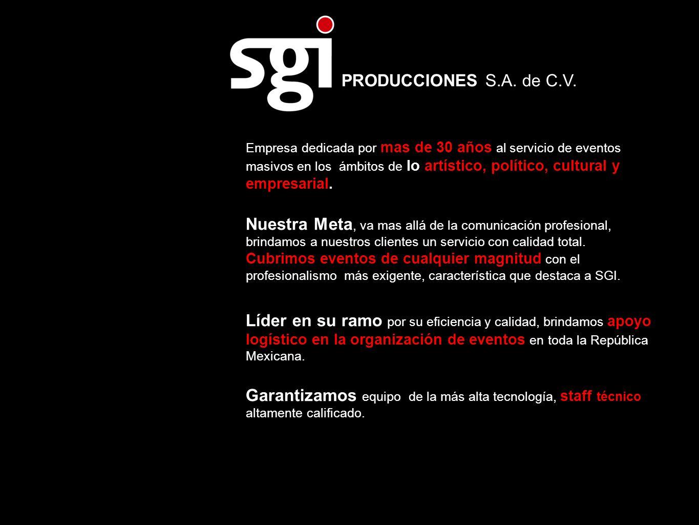 PRODUCCIONES S.A. de C.V.