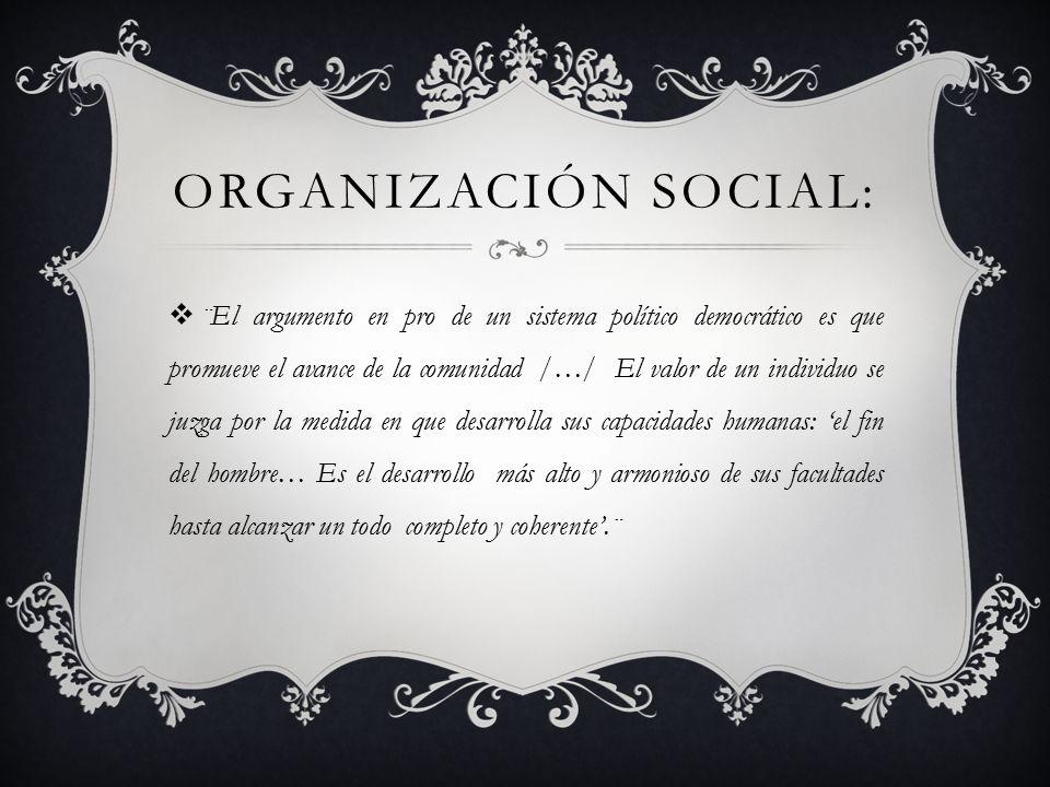Organización social:
