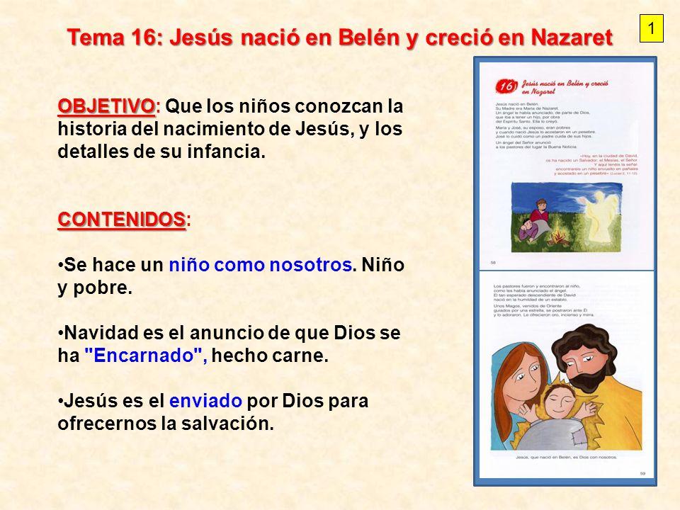 Tema 16: Jesús nació en Belén y creció en Nazaret - ppt video online ...