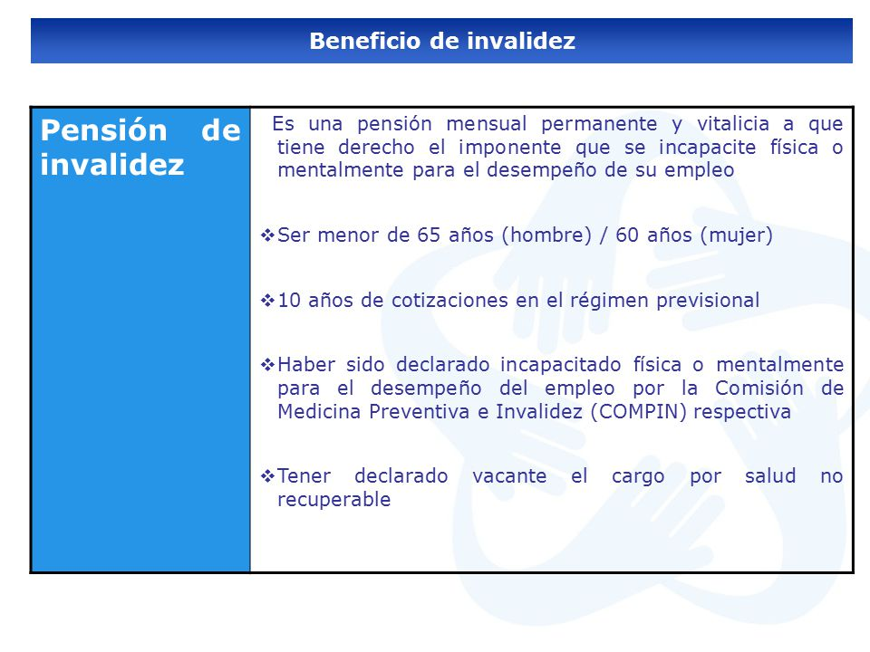 Beneficio de invalidez