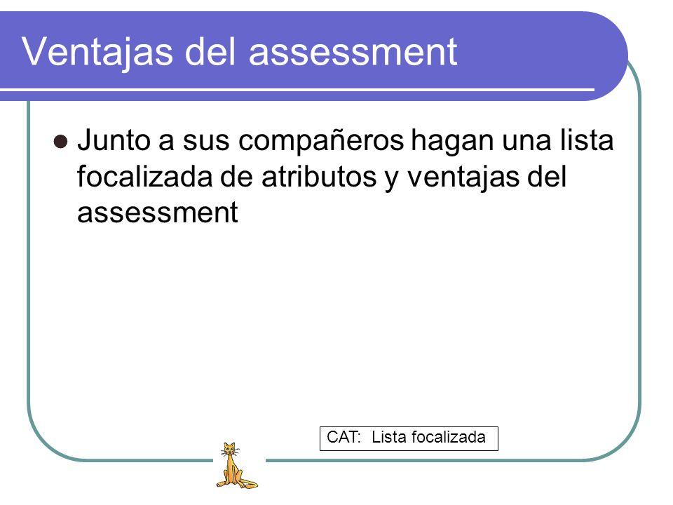 Ventajas del assessment