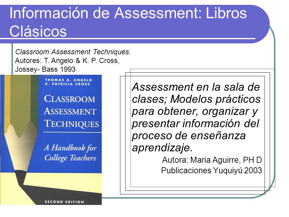 Información de Assessment: Libros Clásicos