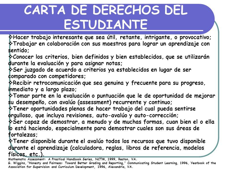 CARTA DE DERECHOS DEL ESTUDIANTE
