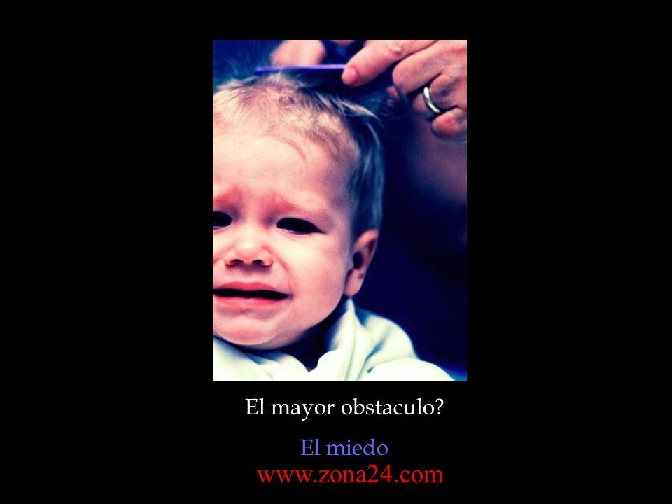 El mayor obstaculo El miedo www.zona24.com