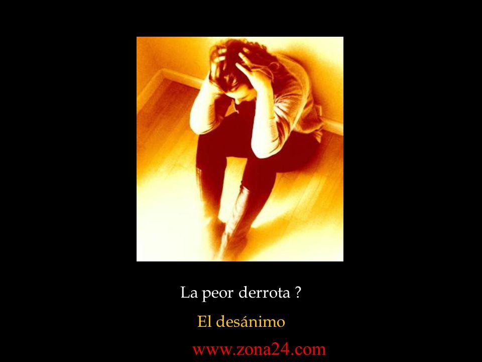 La peor derrota El desánimo www.zona24.com