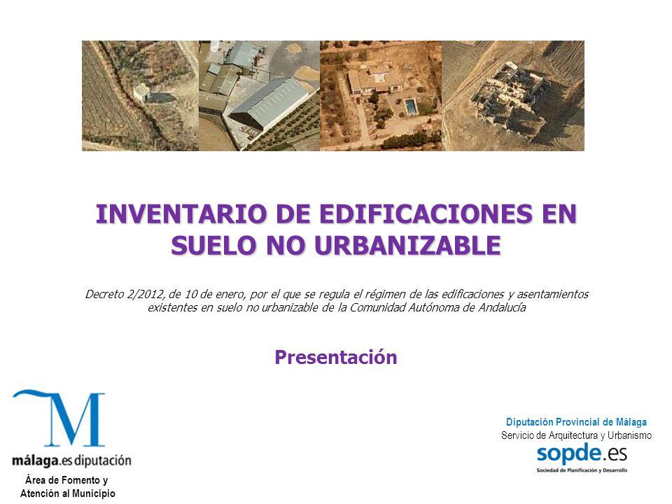 Inventario de edificaciones en suelo no urbanizable ppt for Suelo no urbanizable