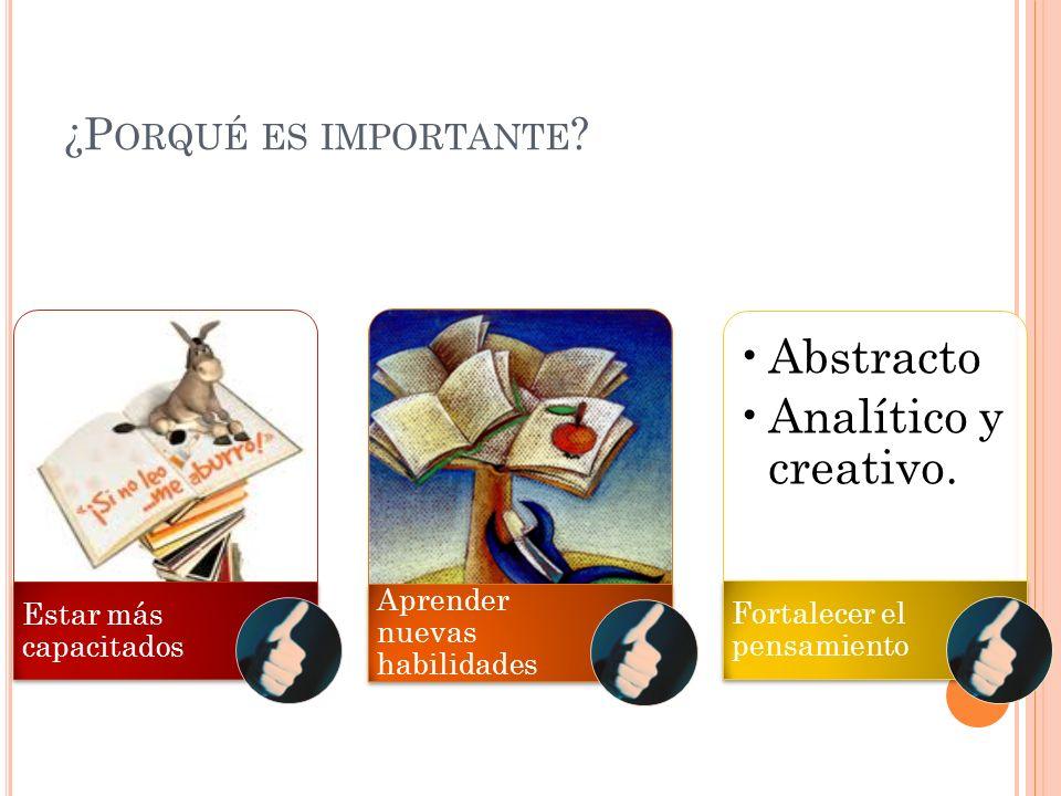 Abstracto Analítico y creativo. ¿Porqué es importante