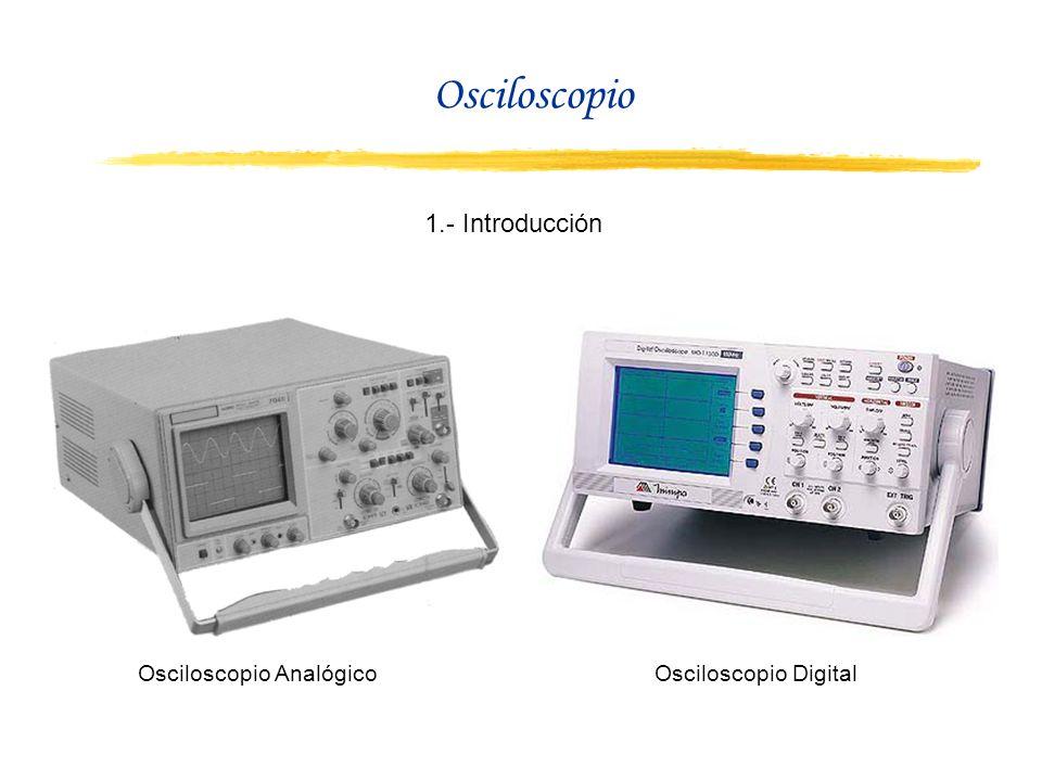 Osciloscopio 1.- Introducción Osciloscopio Analógico