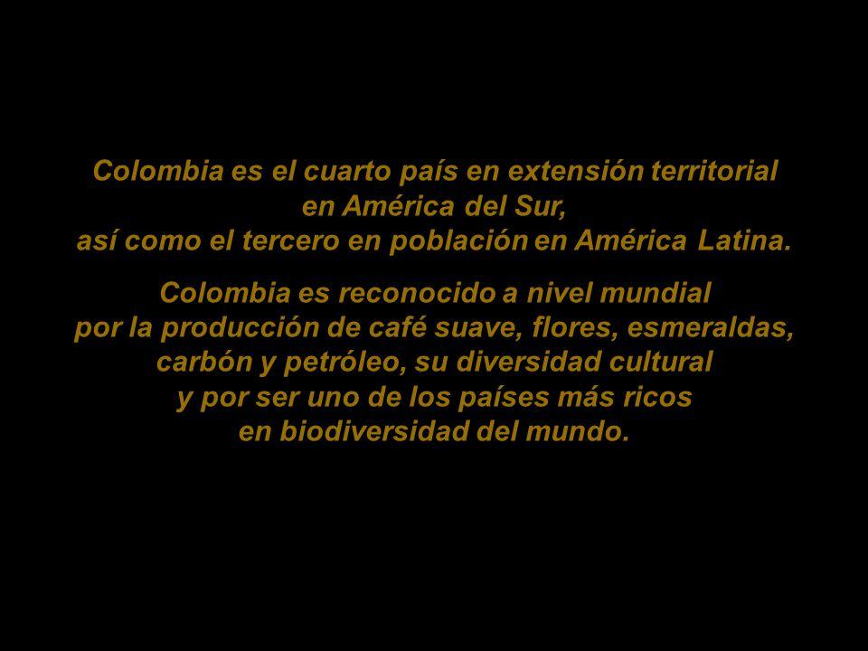 Colombia es el cuarto país en extensión territorial en América del Sur, así como el tercero en población en América Latina.