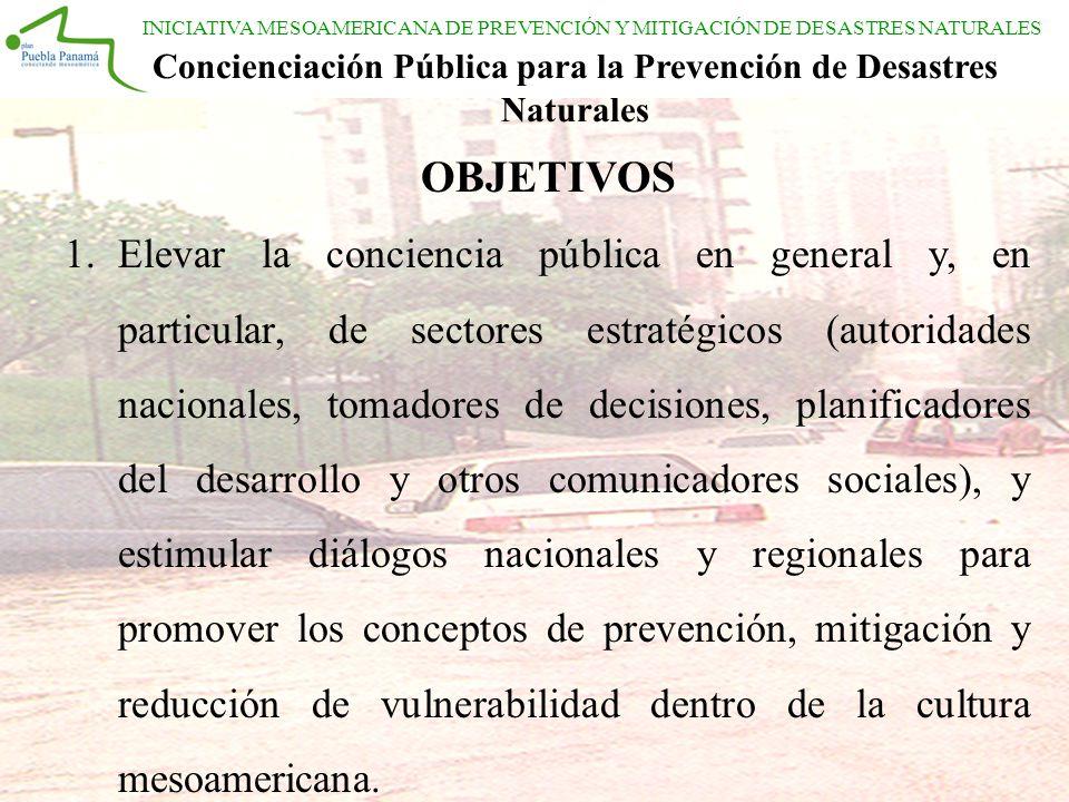 Concienciación Pública para la Prevención de Desastres Naturales