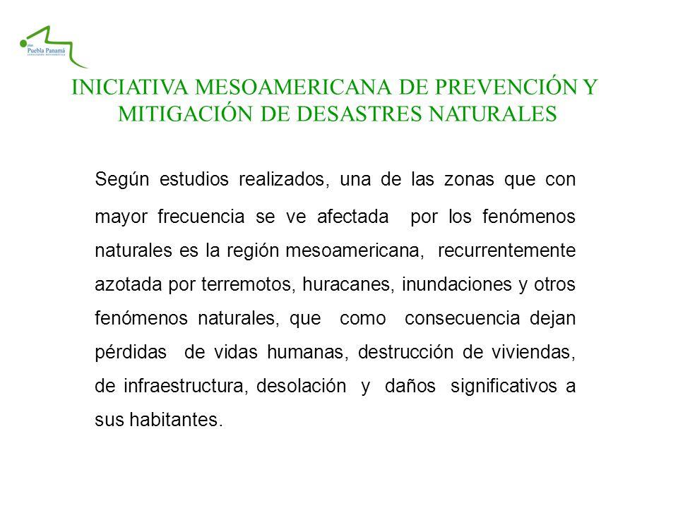 INICIATIVA MESOAMERICANA DE PREVENCIÓN Y
