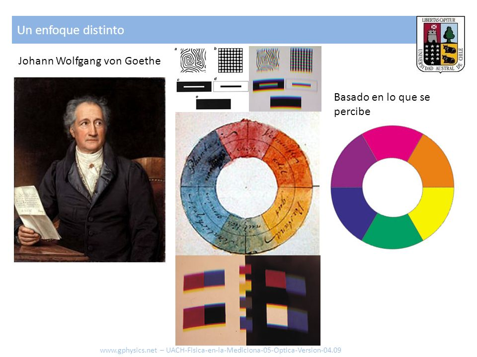 Un enfoque distinto Johann Wolfgang von Goethe