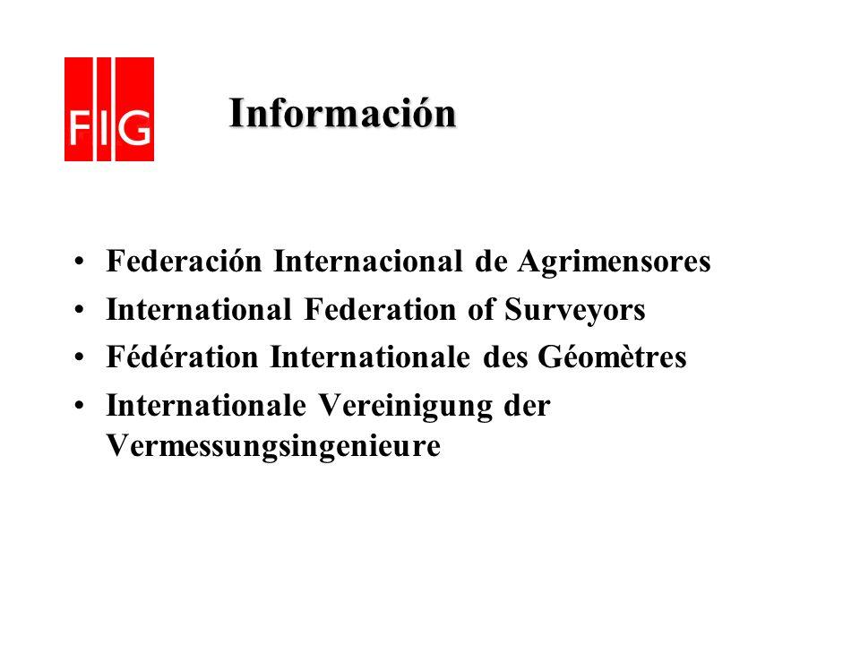 Información Federación Internacional de Agrimensores