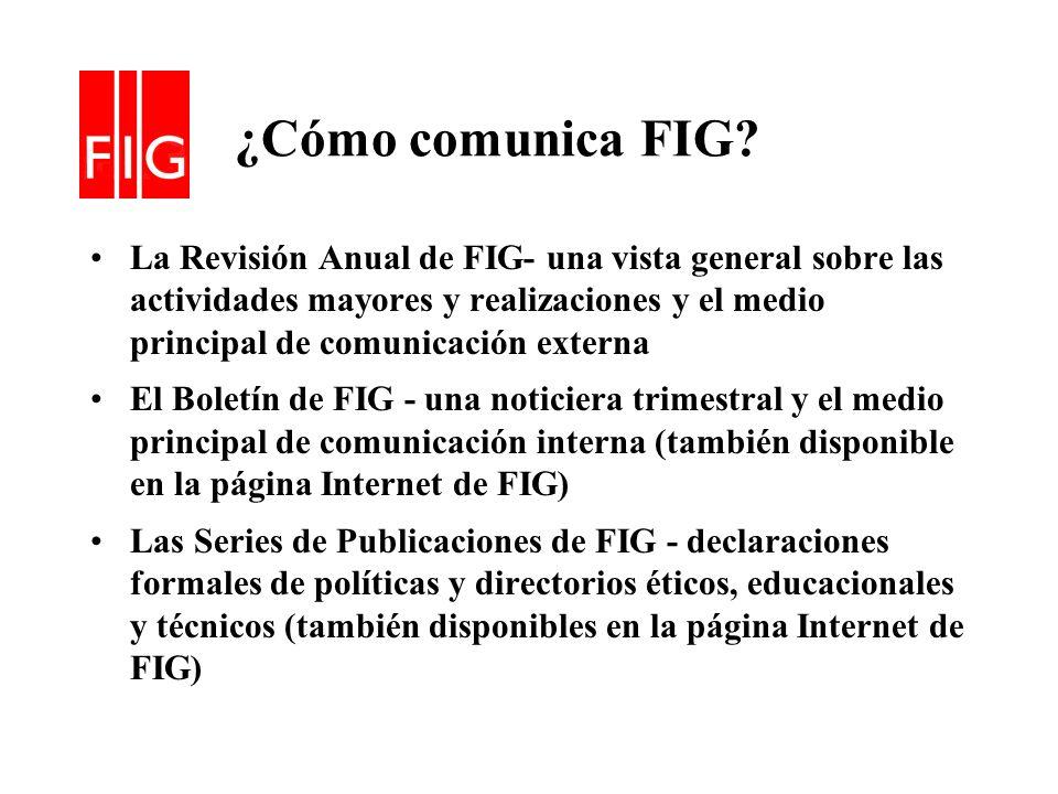 ¿Cómo comunica FIG