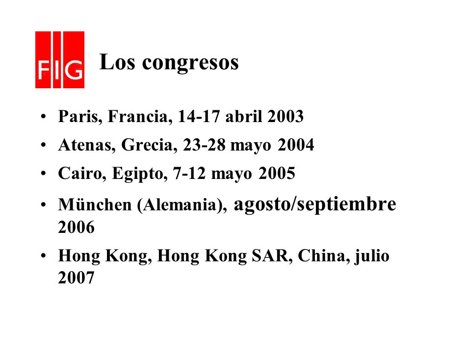 Los congresos Paris, Francia, 14-17 abril 2003