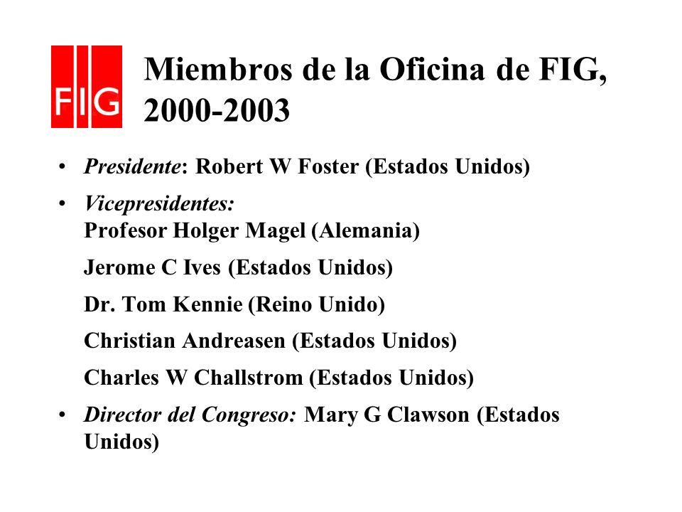 Miembros de la Oficina de FIG, 2000-2003