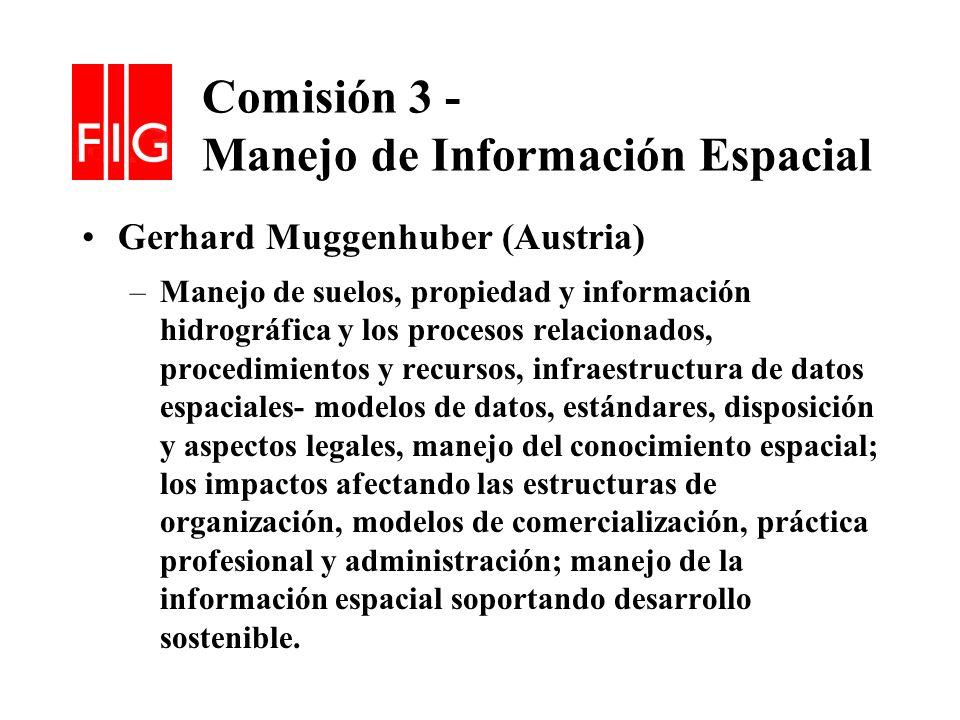 Comisión 3 - Manejo de Información Espacial
