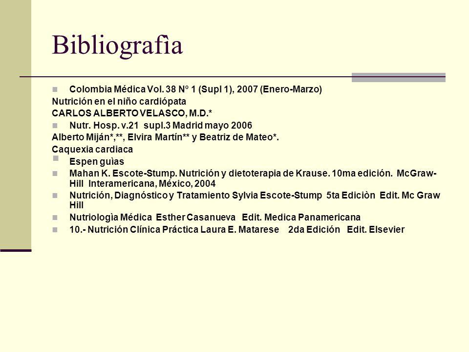 Bibliografìa Colombia Médica Vol. 38 Nº 1 (Supl 1), 2007 (Enero-Marzo)