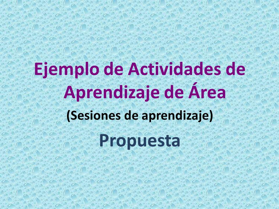 Ejemplo de Actividades de Aprendizaje de Área Propuesta