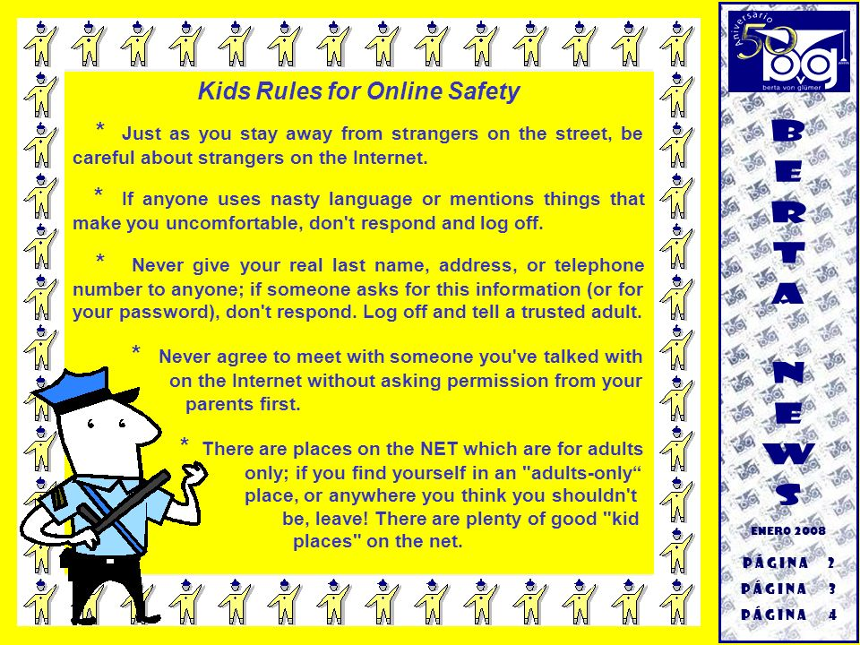Kids Rules for Online Safety