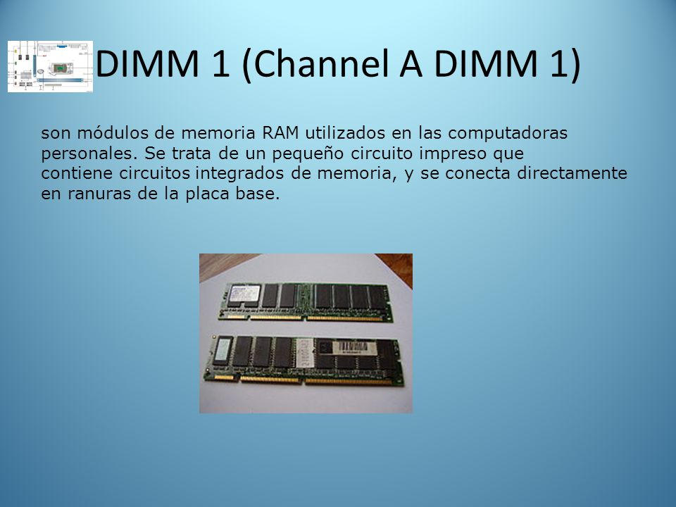 DIMM 1 (Channel A DIMM 1)